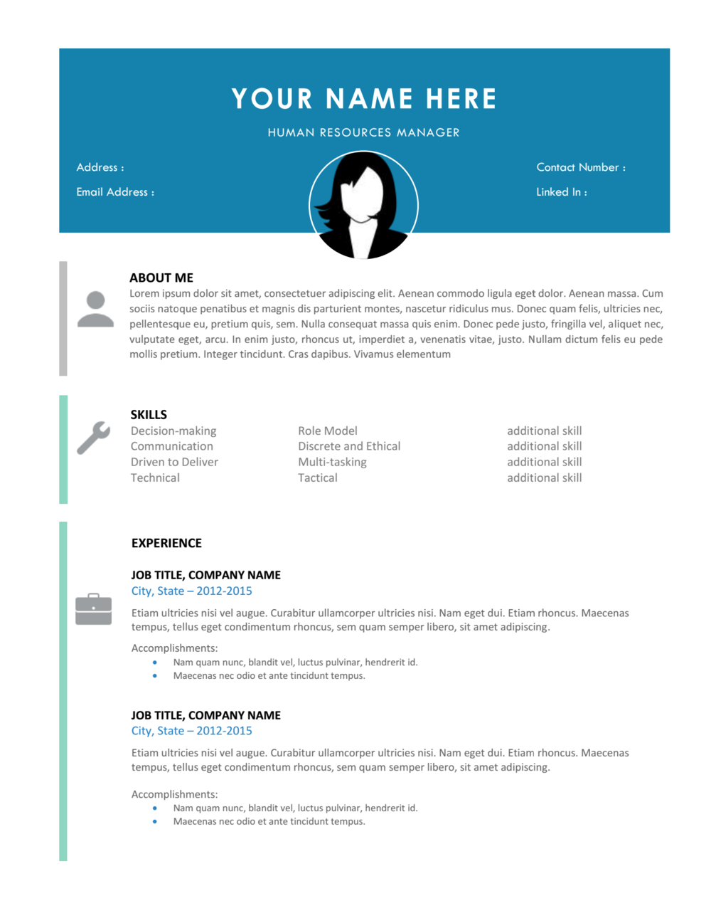 Modern Professional 2 Page Resume + Cover Letter Template Pack  Modern Professional Resume