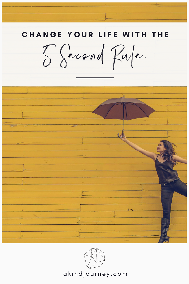 The 5 Second Rule | akindjourney.com #TheKindBrands