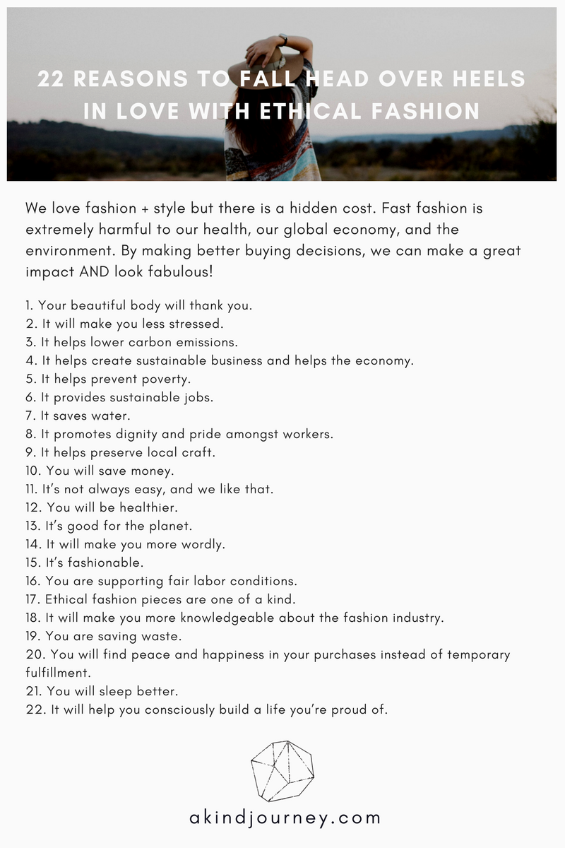 22 Reasons to Fall Head Over Heels in Love with Ethical Fashion | akindjourney.com #TheKindBrands