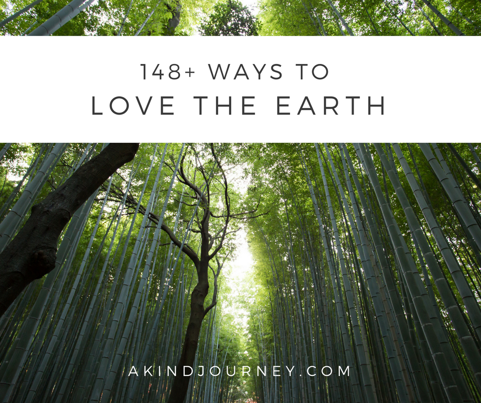 Earth Day: 148+ Ways To Show The Earth A Little Love | akindjourney.com #TheKindBrands #KindImpact #EarthDay