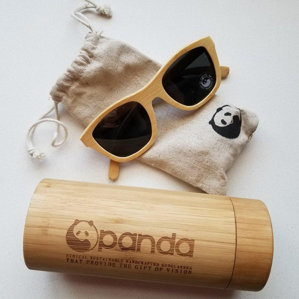 Panda Victoria Sunglasses in Natural | akindboutique.com #TheKindBrands | Fair Trade Bamboo Sustainable Sunglasses