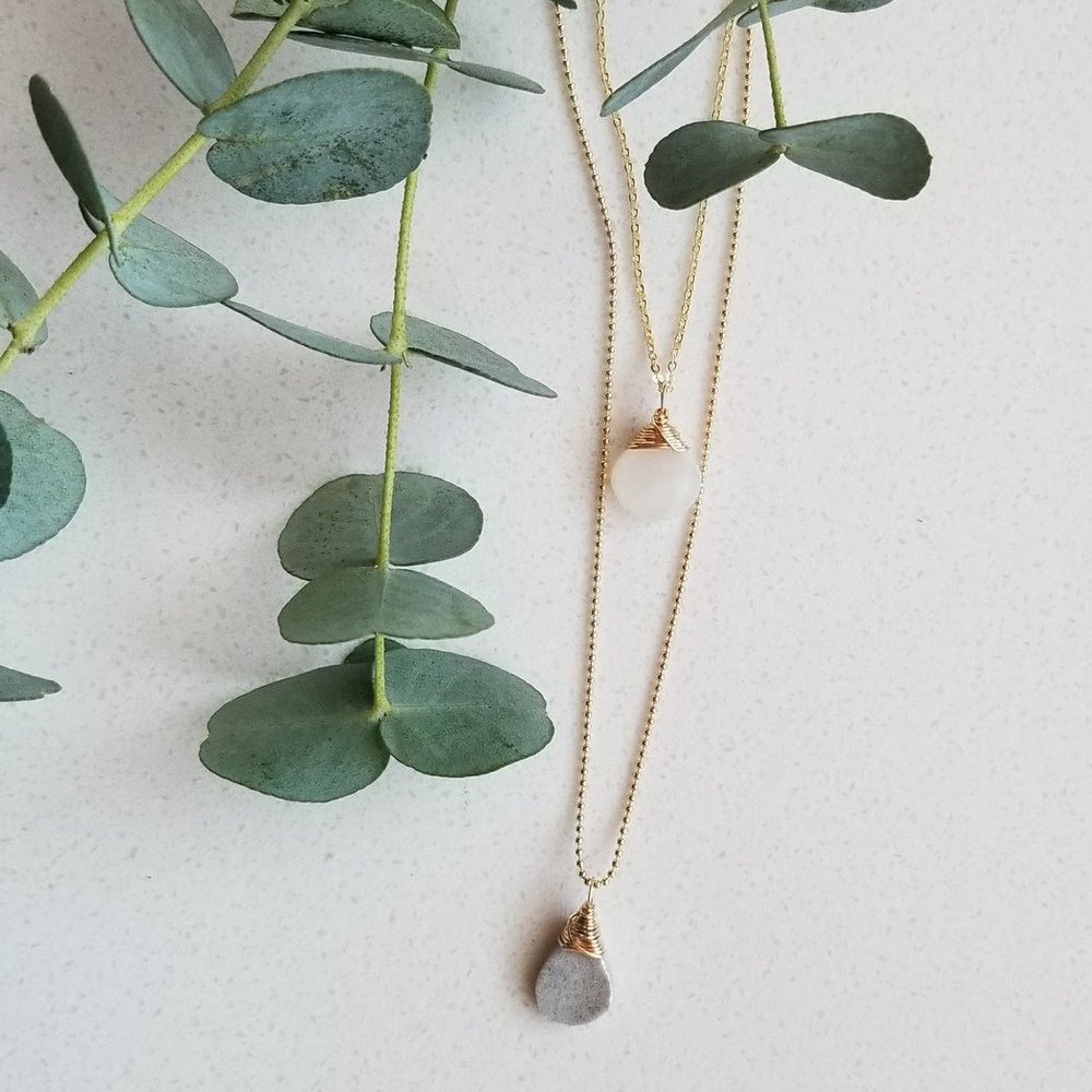 Wander Layered Crystal Necklace | akindboutique.com #TheKindBrands | USA Made Necklace