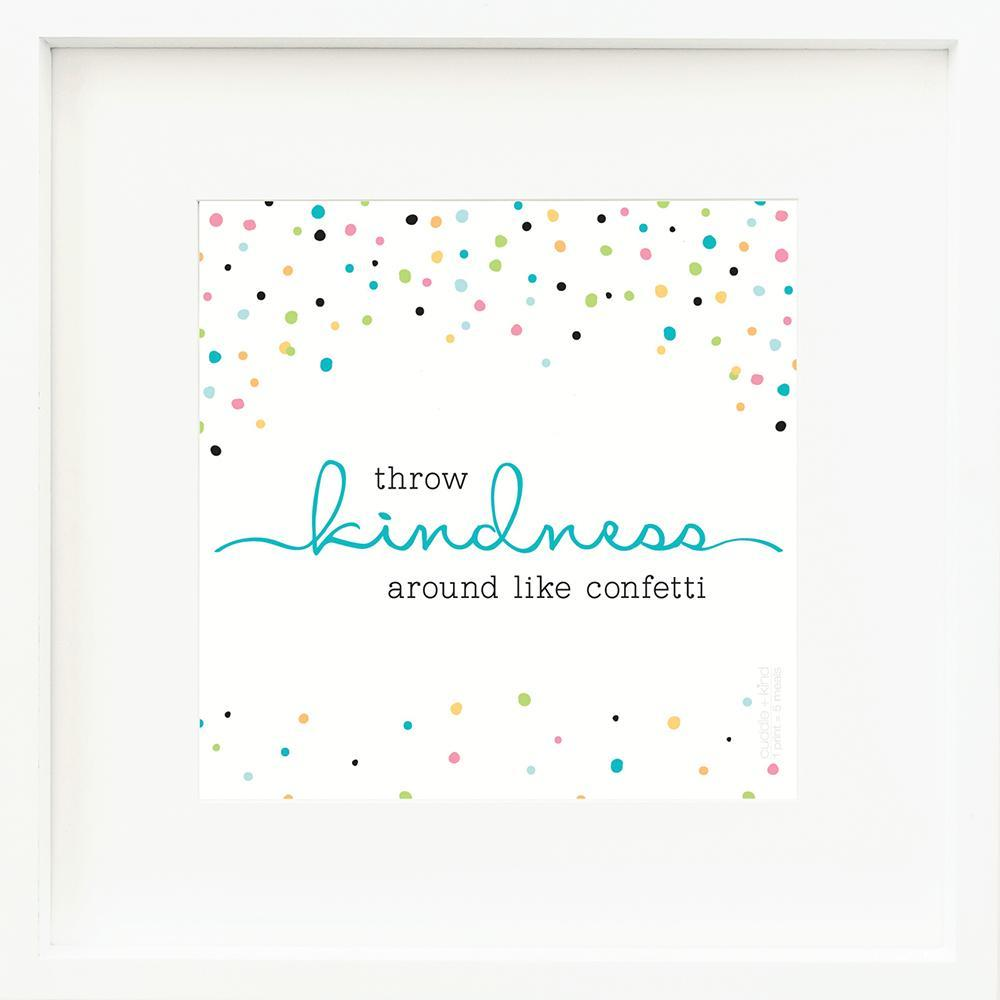 Throw Kindness Frame Print | Kind Gift Guide akindjourney.com