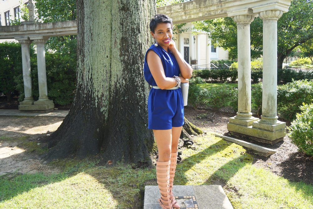 Andrea Fenise Memphis Fashion Blogger turns a room into a wardrobe