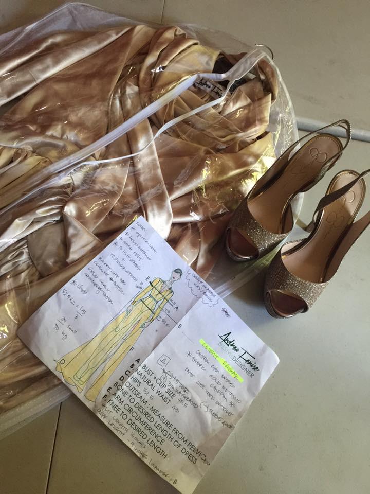 Andrea-Fenise-Kim- Kardashian-Inspired-Dress