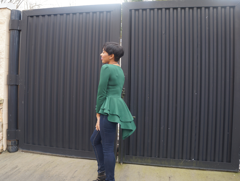 Andrea-Fenise-Green-Peplum-Top