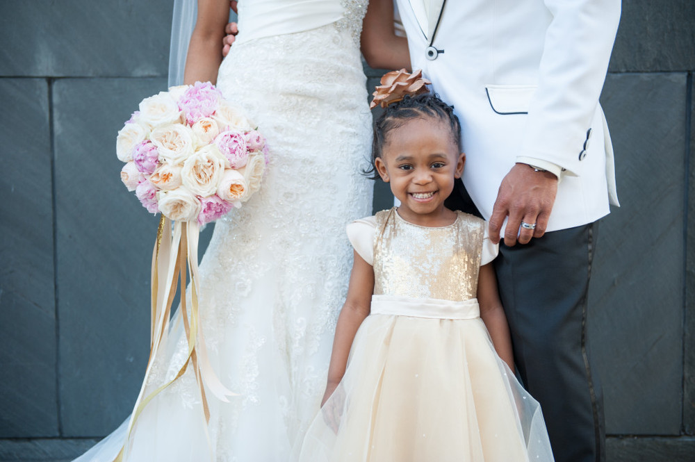 18e5bca404a70 Nykkia wanted me to design her two adorable little flower girl dresses for  her wedding. Her vision was to coordinate with the color palette of pink,  ...
