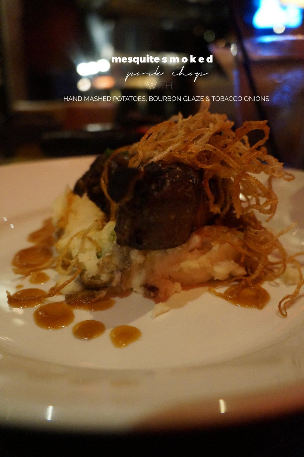 Del Frisco Grille Atlanta Mesquite Smoked Pork Chop