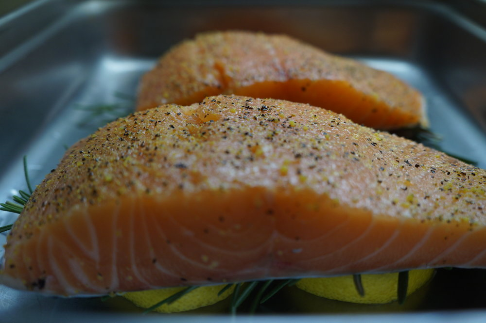Andrea Fenise Lemon and Rosemary Baked Salmon Recipe