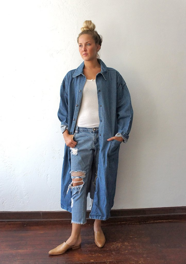 Andrea Fenise Denim Duster Inspiration