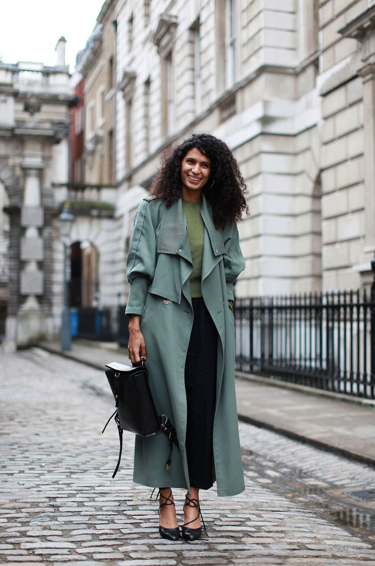 Andrea Fenise shares light trench coat style inspiration