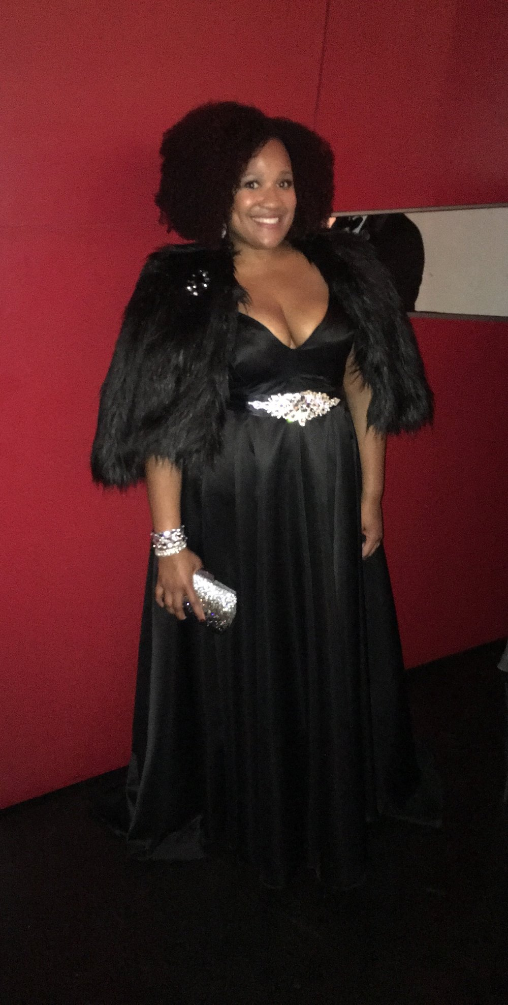 Andrea-Fenise-Krista-Black-Tafetta-Gown