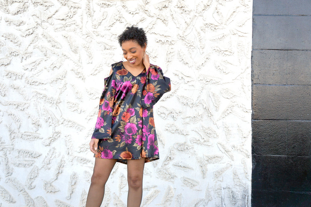 Andrea Fenise Memphis and Atlanta Fashion Blogger shares outfit inspiration in a floral peasant dress