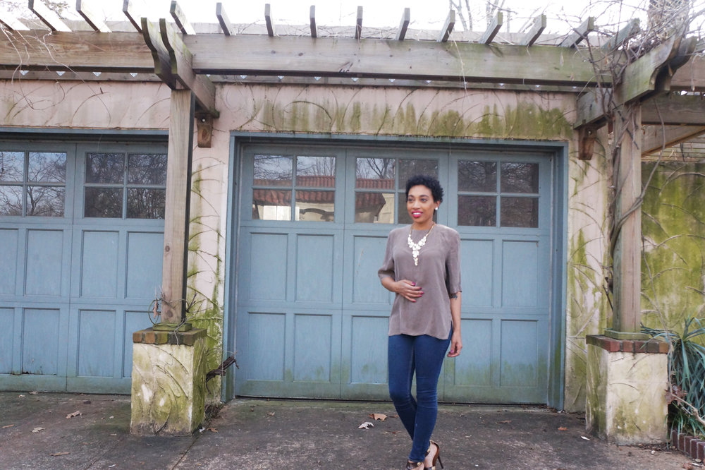 Andrea Fenise Memphis Fashion Blogger shares how to slow down for spring