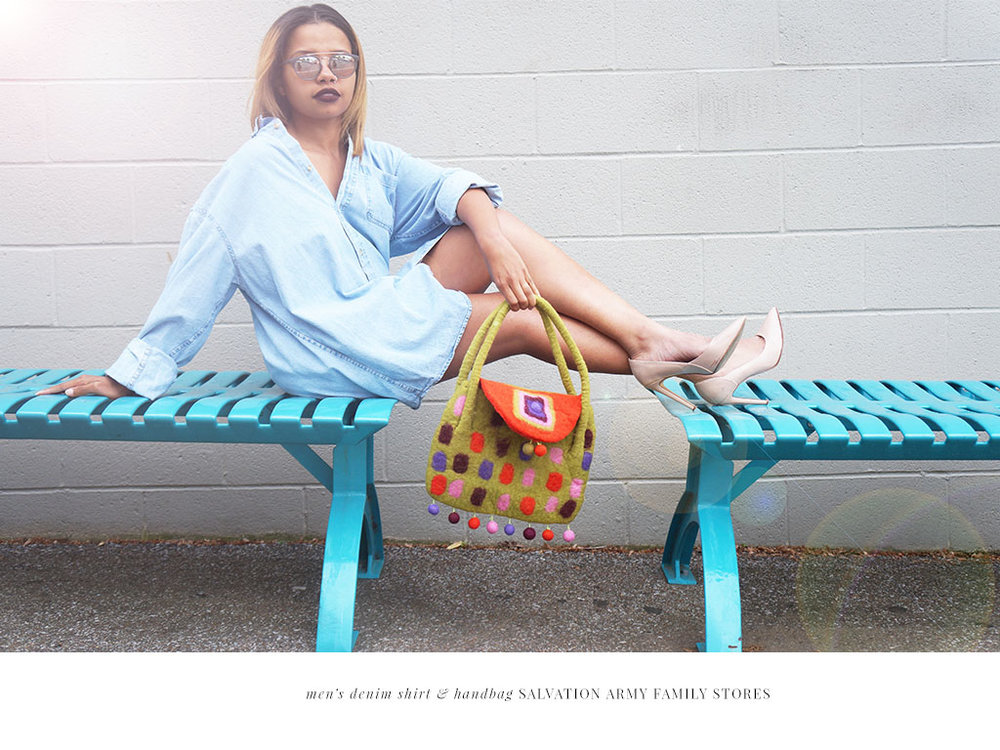 Andrea Fenise Memphis Fashion Blogger styles Earth Day Campaign for Salvation Army Family Stores