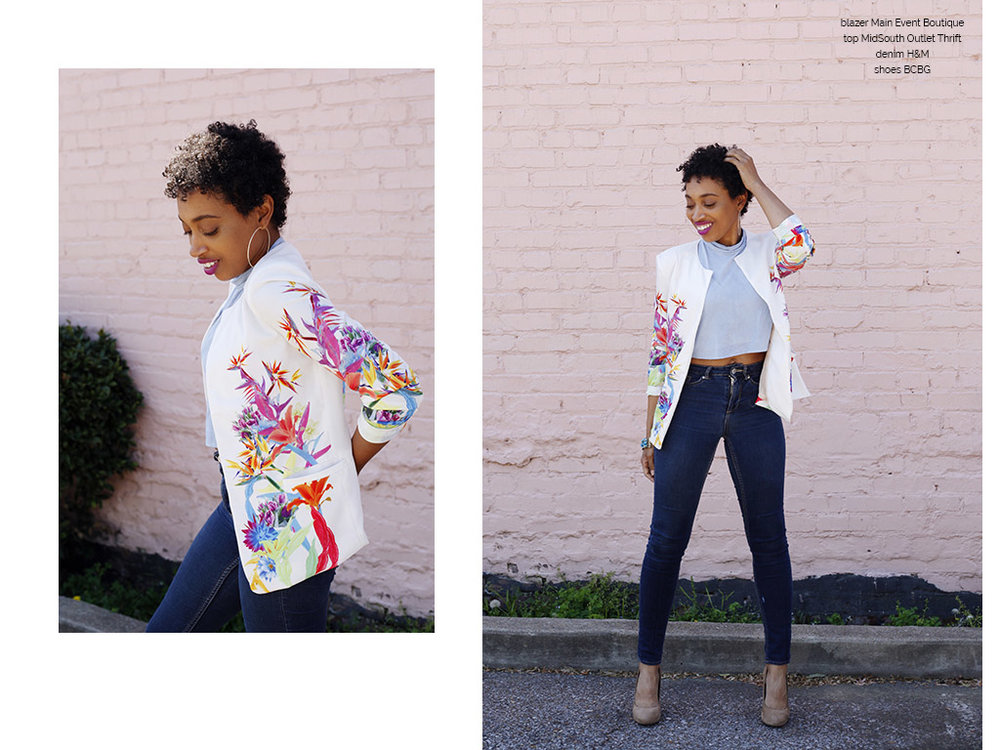 Andrea Fenise Memphis Fashion Blogger shares how to style a small frame and floral crop top