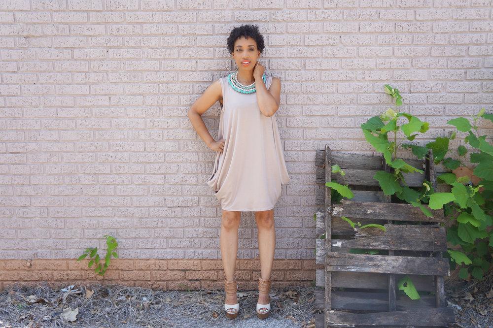 Andrea-Fenise-Gold-Metallic-DRESS