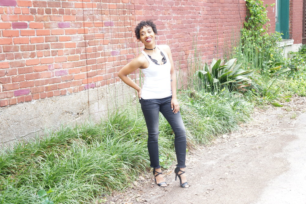 Andrea Fenise Memphis Fashion Blogger shares a DIY Lace Applique Top video