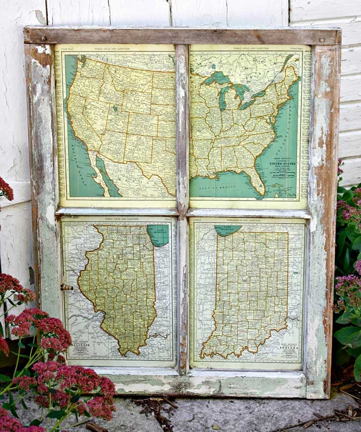Andrea Fenise Memphis Fashion Blogger shares how to decorate using old window frames