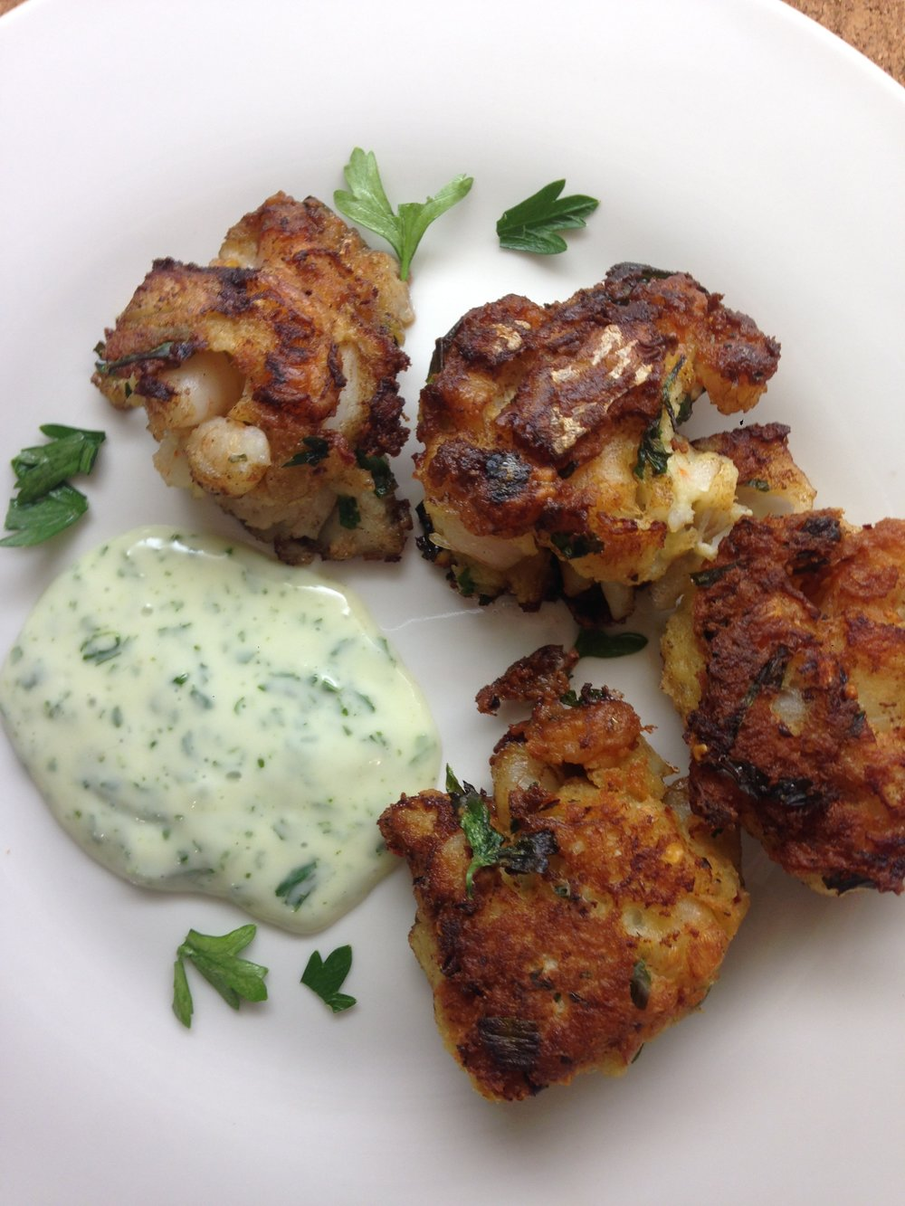 Andrea Fenise Memphis Fashion Blogger shares shrimp and cod cakes recipe