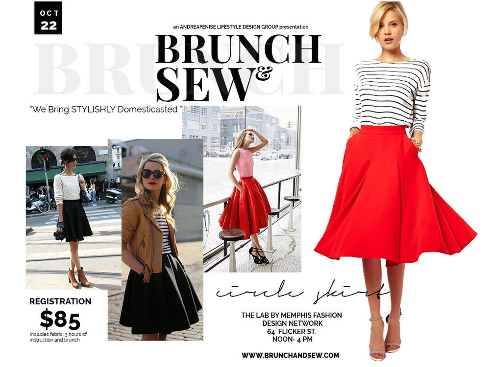 JOIN US FOR THE NEXT BRUNCH AND SEW