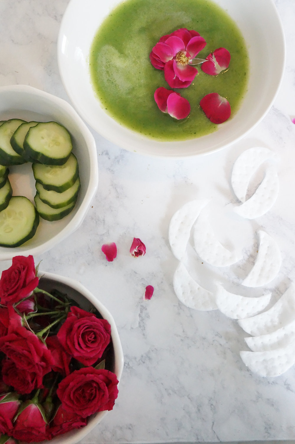 Andrea Fenise Memphis Fashion Blogger shares a DIY Cucumber Rosewater Eye Mask