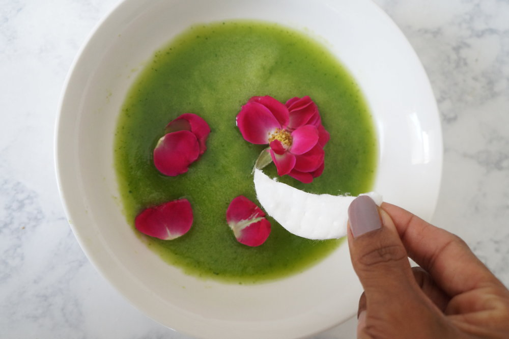 Andrea Fenise Memphis Fashion Blogger shares a DIY Cucumber Rose Water Eye Mask
