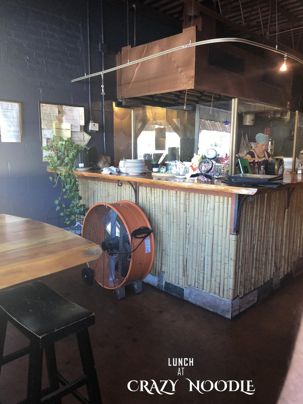 Andrea Fenise Memphis Fashion Blogger and Memphis Food Blogger reviews Crazy Noodle restaurant in Midtown Memphis