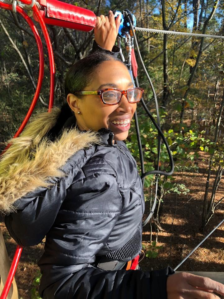 Andrea Fenise Memphis Fashion Blogger experiences Go Ape