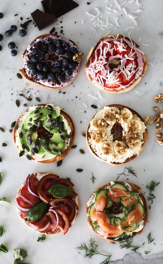 How to Setup a Build Your Own Bagel Bar | Andrea Fenise Memphis Fashion Blogger and Memphis Food Blogger shares how to setup a build your own bagel bar