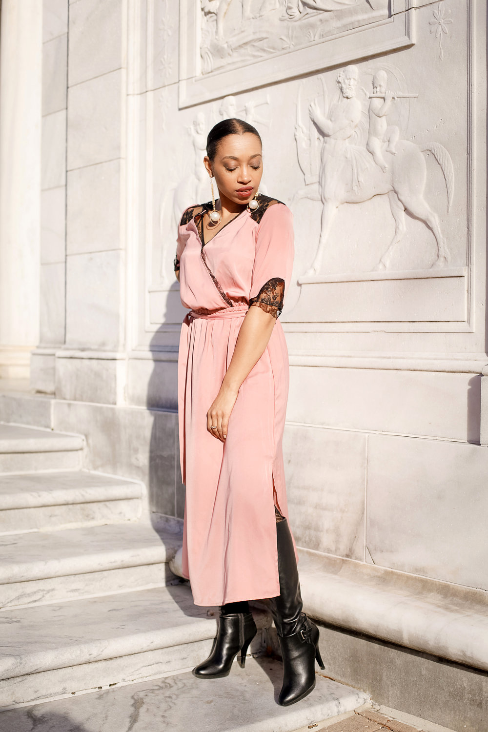 Andrea Fenise Memphis Fashion Blogger shares style post with dress from Target