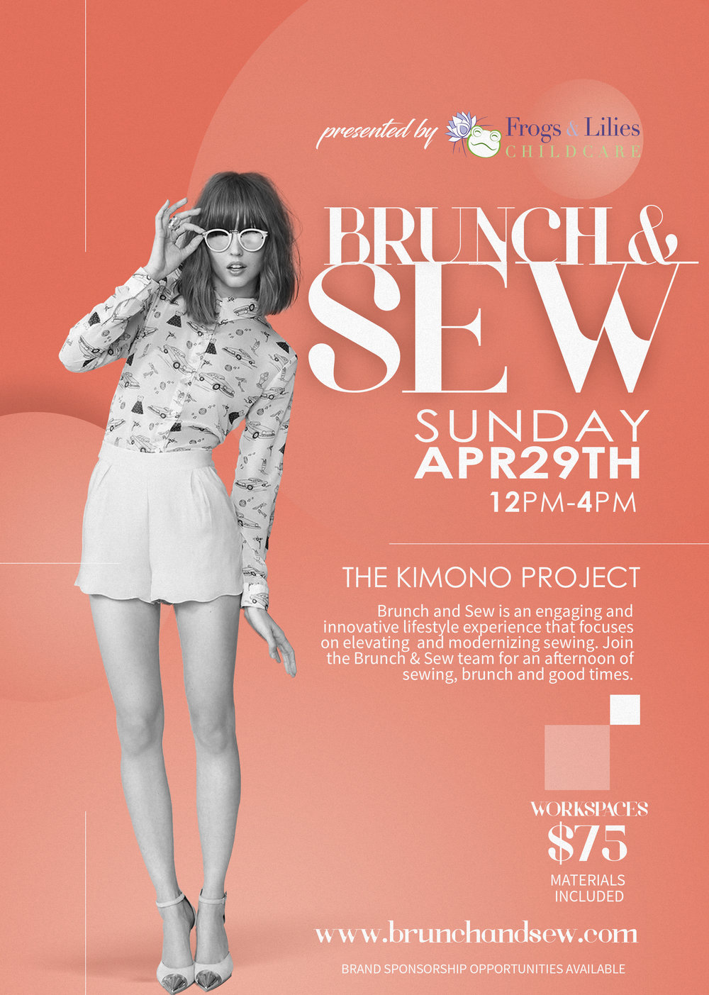 Andrea Fenise Memphis Fashion Blogger hosts Brunch and Sew workshop on April 29th, 2018