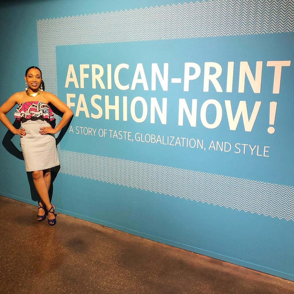 Andrea Fenise Memphis Fashion Blogger attends African Print Fashion Now Exhibit Opening at Brooks Museum of Art
