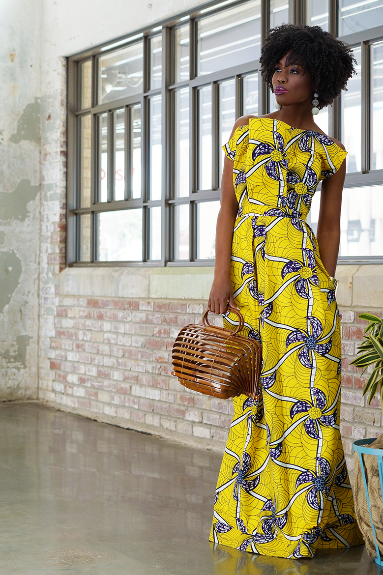 Andrea Fenise Memphis Fashion Blogger and Memphis Fashion Stylist shares African Print Fabric Editorial