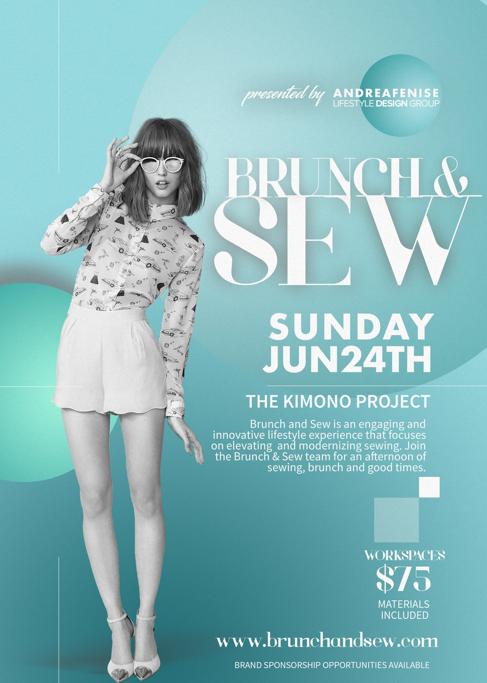 Andrea Fenise Memphis Fashion Blogger shares next Brunch and Sew workshop