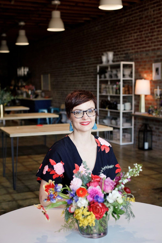 Andrea Fenise Memphis Fashion Blogger interviews Kristen, floral designer, of Everbloom Design