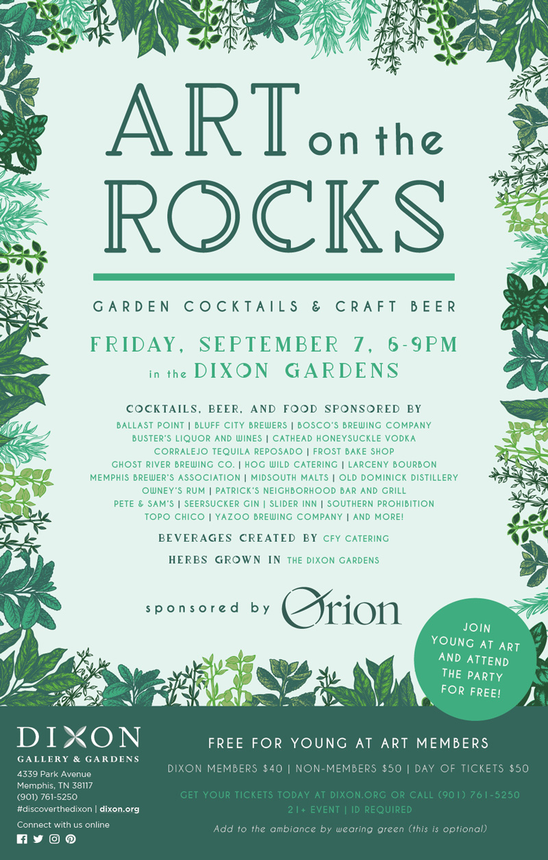 Andrea Fenise Memphis Fashion Blogger shares Art on the Rocks at Dixon Gallery & Gardens giveaway
