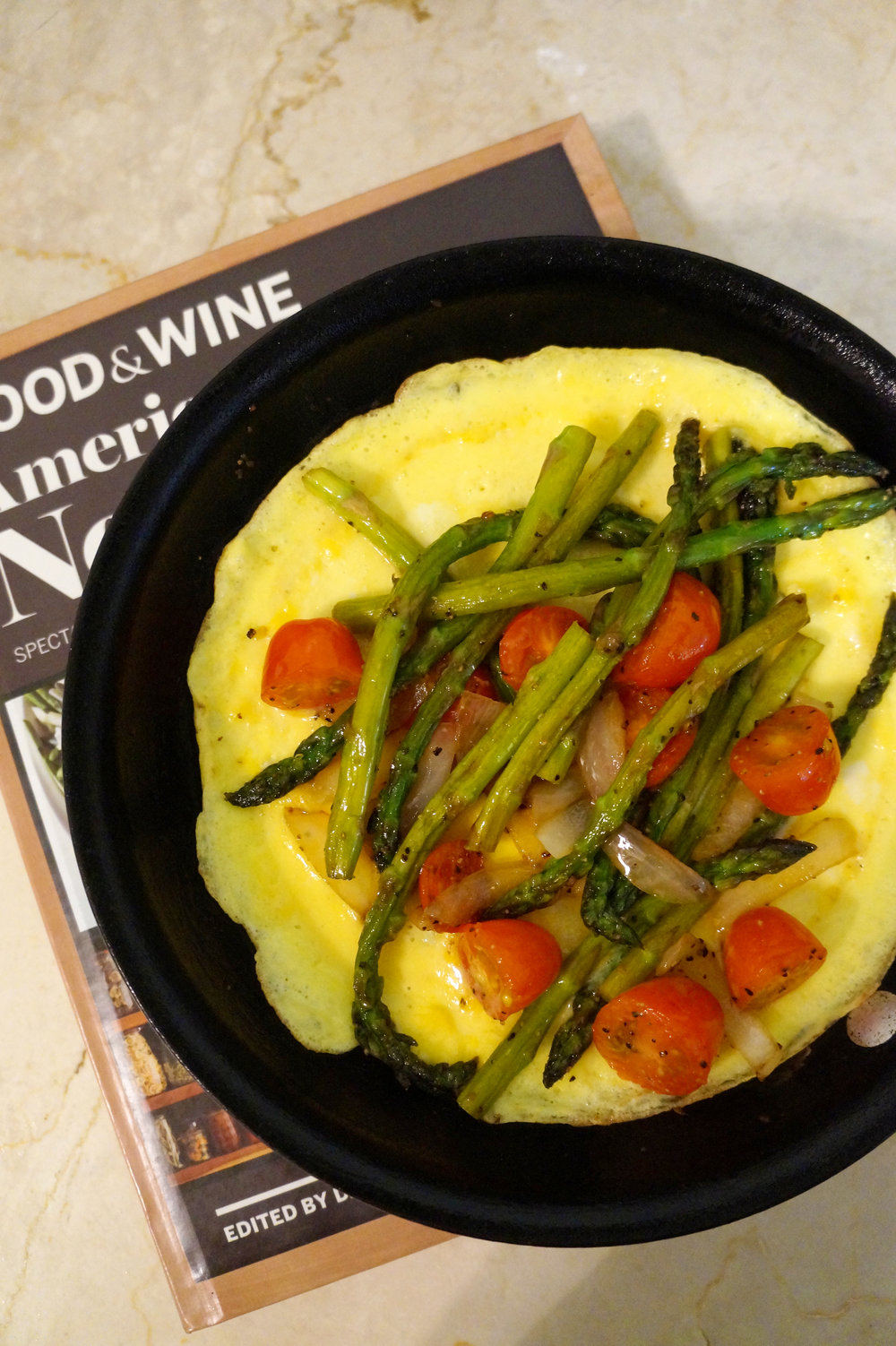 Andrea Fenise Memphis Fashion Blogger and Memphis Running Blogger shares post workout frittata asparagus, tomato recipe with cotija cheese