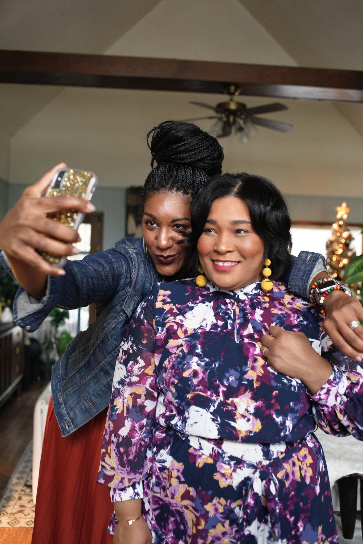 Andrea Fenise Memphis Fashion Blogger shares Friendsgiving with Memphis creative friends