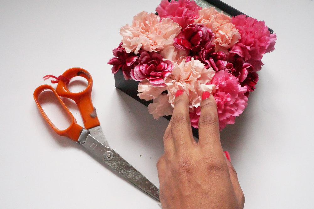 Andrea Fenise Memphis Fashion Blogger shares how to make a DIY Floral Box for Valentine's Day