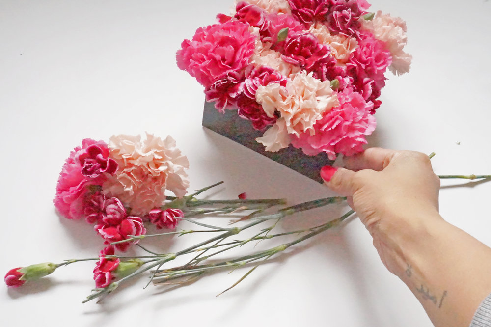 Andrea Fenise Memphis Fashion Blogger shows how to make a floral box for Valentine's Day