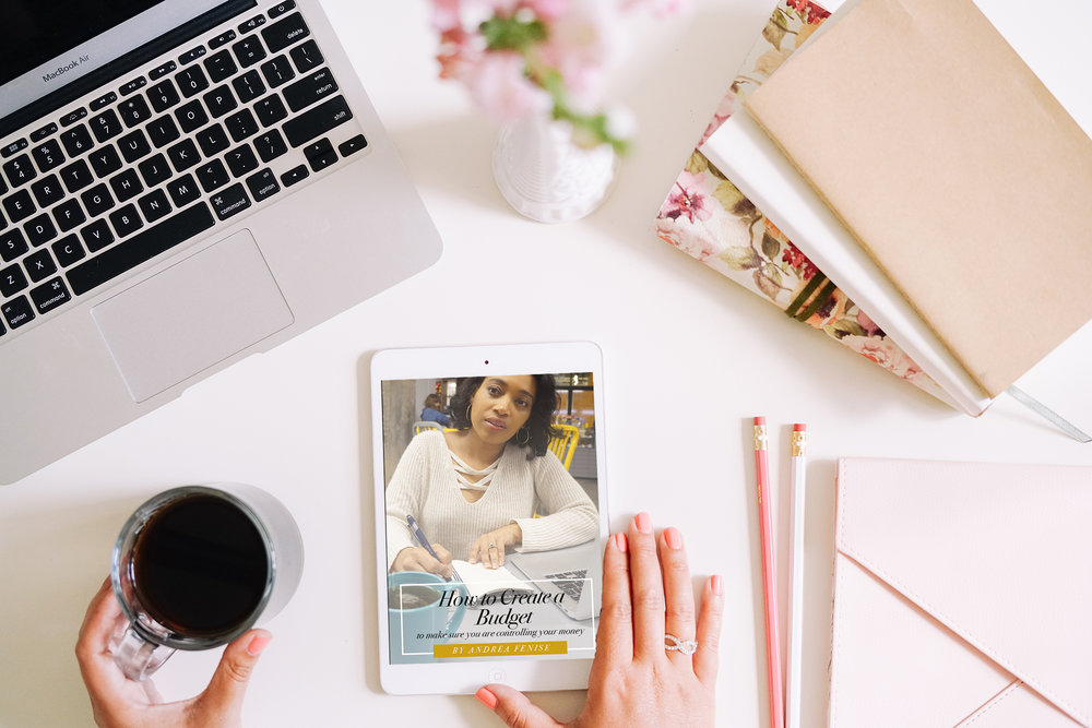 Andrea Fenise Memphis Fashion Blogger shares a free download showing how to create a budget