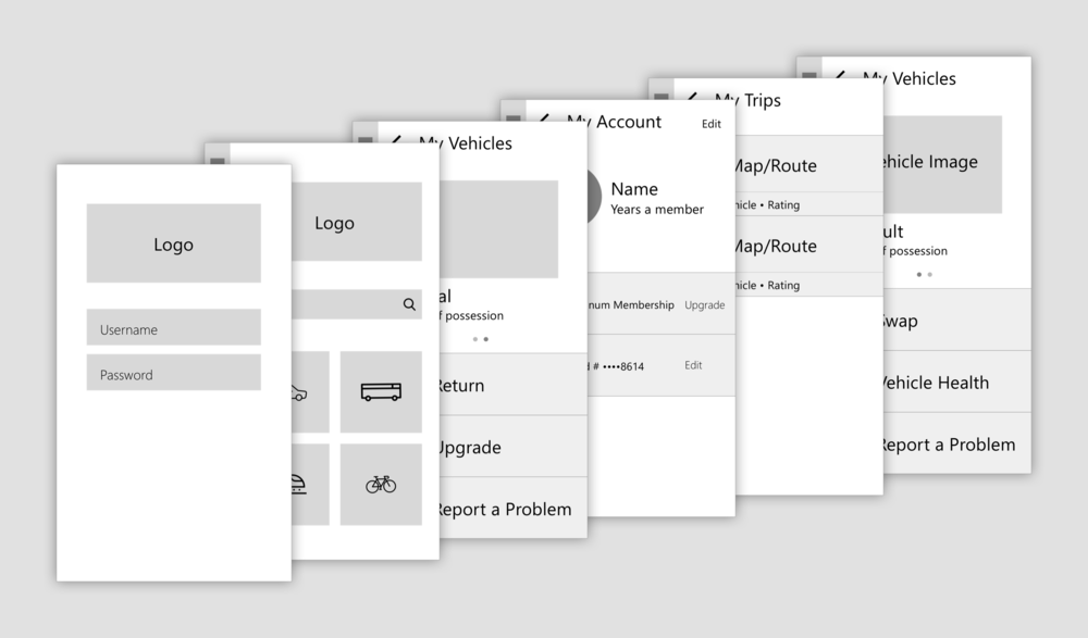 Low Fidelity Wireframes