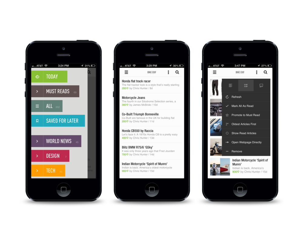 Feedly mobile experience
