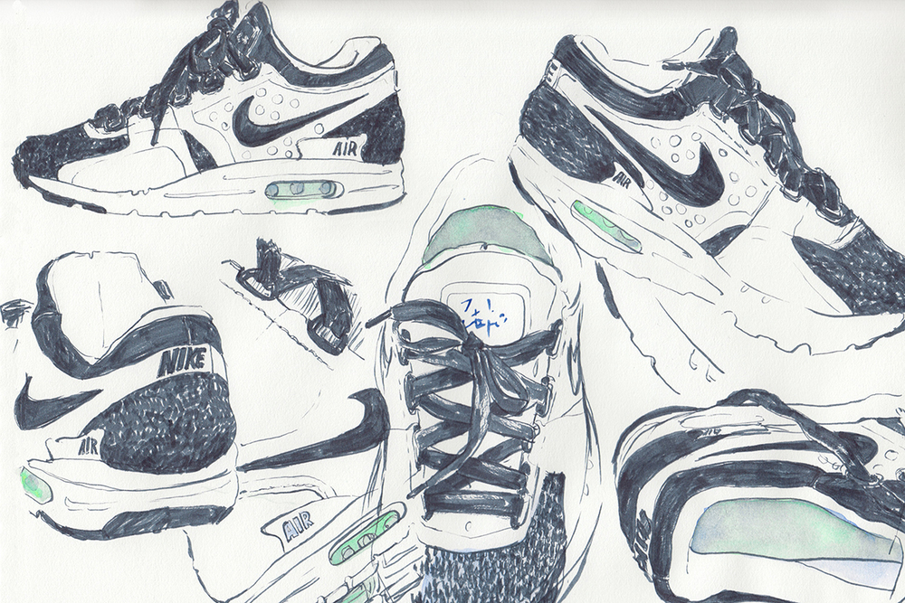 air max zero sketch