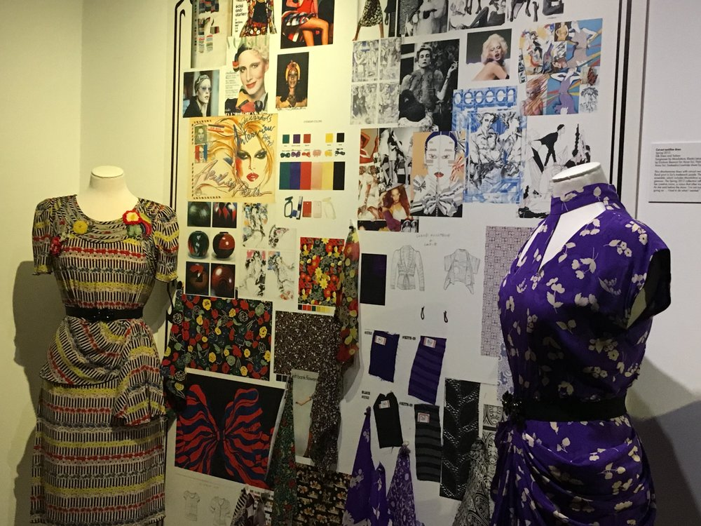 Personal styling London: exploring Anna Sui's design processes through mood boards, photographs, sketches, and runway shots.
