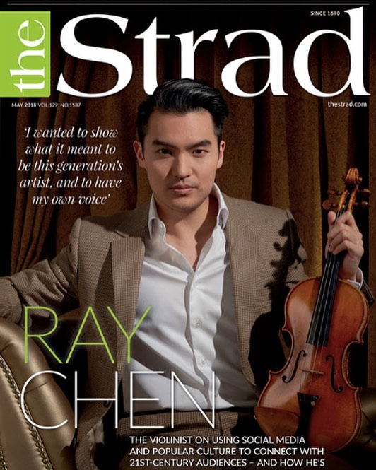 Violinist @raychenviolin covers the May 2018 issue of @thestradmag 🏆🎻🔥Photo: John Mac / Styling: @marikapage_fashion_stylist / Grooming: @phhairmua 👏👏👏Thanks to @deccarecords #blacklightmusic #raychen #thegoldenage #fashion #style #londonfashionstylists