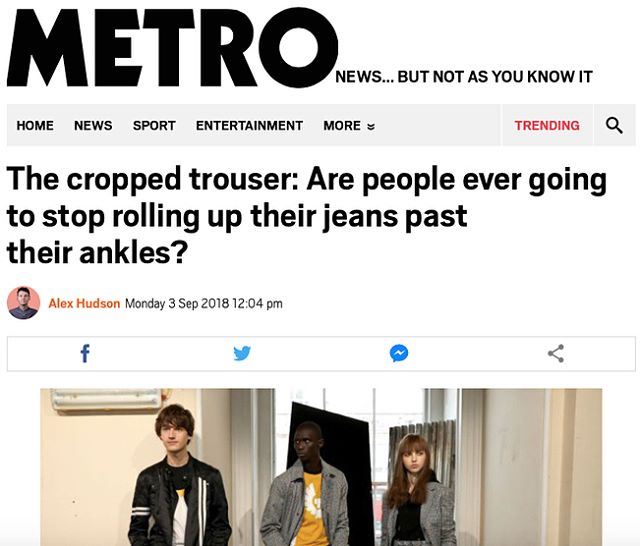 Today I'm being interviewed by @metro.co.uk newspaper in this fun article by Alex Hudson on whether we should 'Crop our Jeans or Not'? 🤔👖 'In years gone by, after the capri pants controversy of the 1990s...' 🖌😜 Thanks Alex! #metro  #metrouk #mensstylist #personalshopperformen #menspersonalstylist #marikapage 👕👖👟 #alexhudson 👏👏👏
