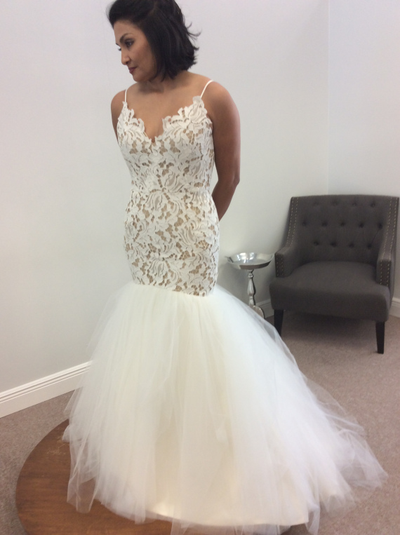 9b2ec6e129d9 Kalea can be ordered in an ivory underlay with ivory lace our gown has the  nude underlay to really bring the lace out. This contrast really creates  that ...