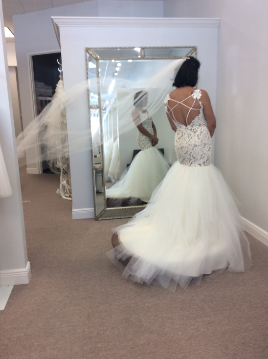 9eba2491741b ... not to take away from it with an embellished veil, the veil is simple  yet so spectacular because of its length, much like the dress it makes a  statement ...